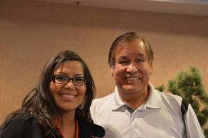 Tipiziwin Tolman (Lakota) with Billy Mills