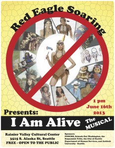Poster for Red Eagle Soaring's I Am Alive musical