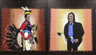Mural of Bob Eaglestaff by Andrew Morrison