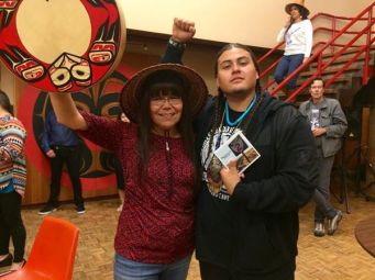 Millie Kennedy (Tsimshian) with Nataanii Means (Oglala Lakota, Omaha & Dine).