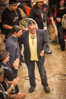 Sen. McCoy (Tulalip) sponsor of H.B. 1495 being honored at Seattle's 1st Indigenous Peoples' Day celebration.