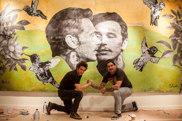 Artists Cheyenne Randall and James Franco