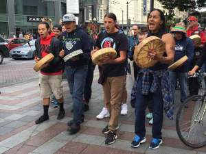 Matt Remle (Lakota), second from right, is an editor and writer for Last Real Indians and LRInspire follow @wakiyan7